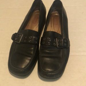 Bass Size 8.5 Chunky Loafers with Belt Strap